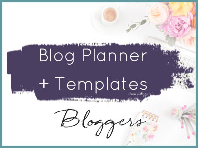 diy printables for bloggers blog planner
