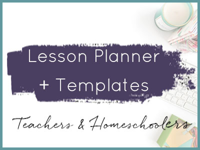 diy printables for teachers and homeschoolers lesson planner