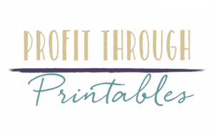 profit through printables logo