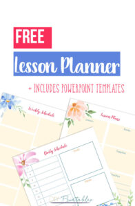 Floral Lesson Planner PowerPoint templates