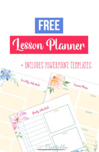 Printable Lesson Planner and PowerPoint Templates
