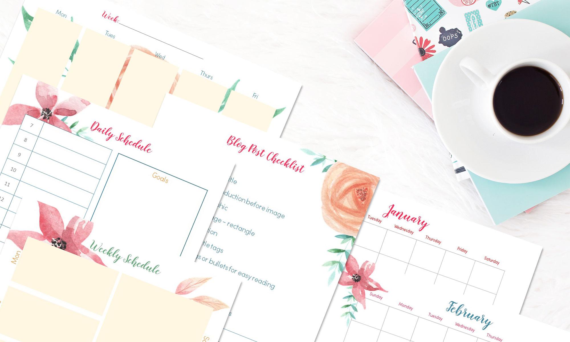 floral-blog-planner